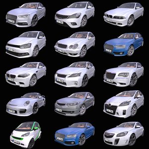 3D pack 15 generic european model