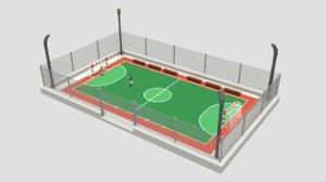 cartoon street football court 3D model