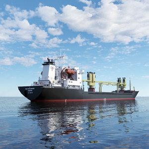 3D vessel general cargo ship model