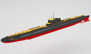 3D submarine bm
