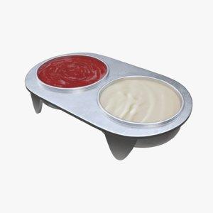 gravy boat ketchup 3D model