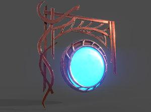 3D fantasy gong