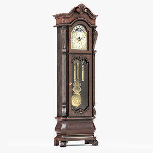 howard miller grandfather clock 3D model