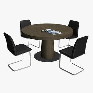 boconcept table chair 3D model