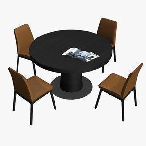 3D boconcept table chair