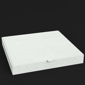3D model closed pizza box