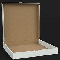 Half open pizza box