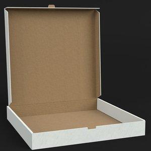 half open pizza box 3D model