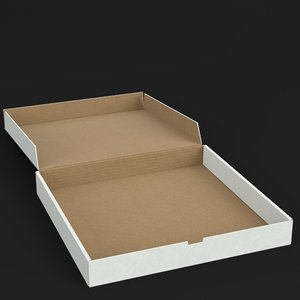 open pizza box 3D model