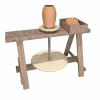 Medieval Pottery Wheel - Comlek - Clay