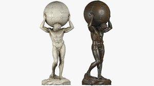 atlas statue marble 3D