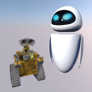 3D walle pixar disney model
