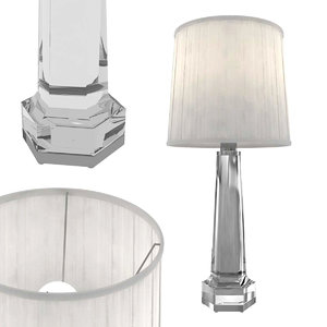 3D table lamp baccarat