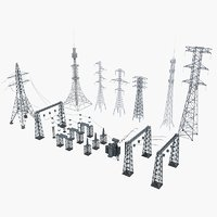 Collection of Electric Towers