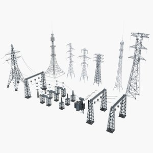 tower electric 3D model