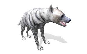 wild animal hyena rigged 3D