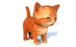 animal cat cute 3D model