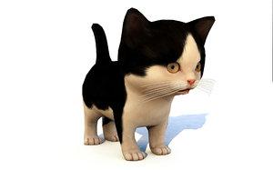 animal kitten cat rigged 3D model