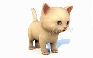 animal kitten 3D model