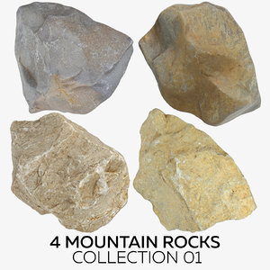 3D 4 mountain rocks 01