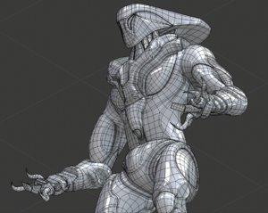 alien character 3D