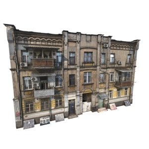 3D dirt apartment duilding russia