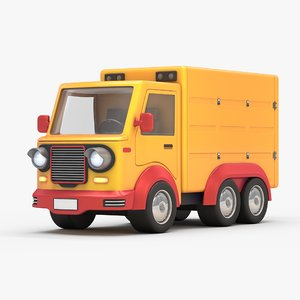 modelled cartoon lorry model