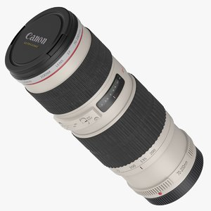 canon 70-200mm f4 l 3D model