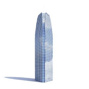 tall triangle skyscraper 3D model