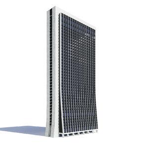 black skyscraper 3D model