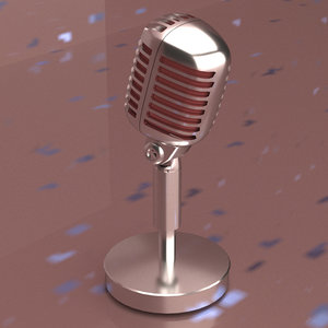 microphone radio 3D