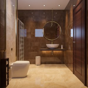 3D interior scene luxury bathroom