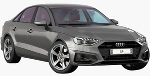 audi a4 2020 opening 3D
