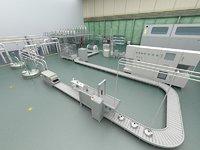 Factory Workshop Assembly Line