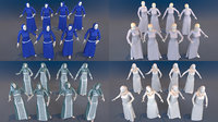 Woman mannequin arabic 4 x different models 32 poses