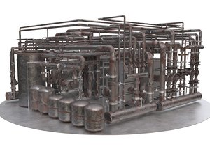 3D room boiler industrial