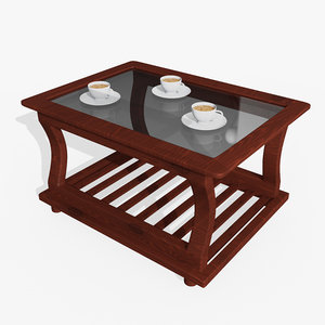 wooden tea table 3D model