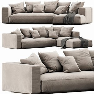 flexform grandemare chaise lounge 3D model