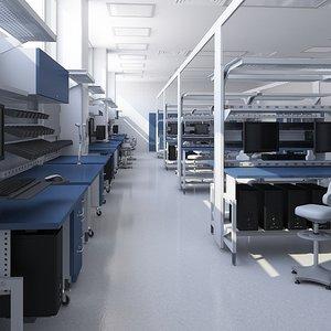 laboratory carefully model