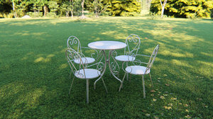 bidesenal wrought table chair 3D