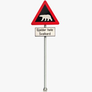 warning sign 3D model