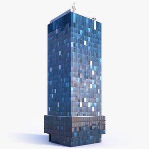 3D skyscraper building 00 model