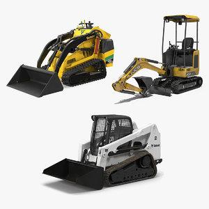 mini construction vehicles 3D model