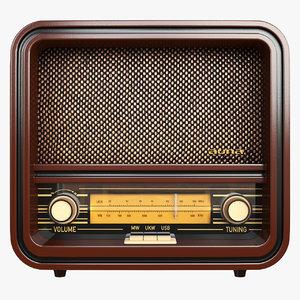 3D belle vintage radio