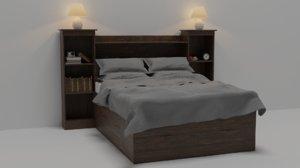 bed sheets fabric 3D model