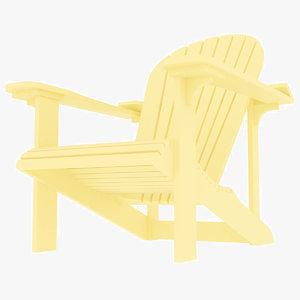 3D beach adirondack plastic chair
