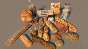 3D bread loafs