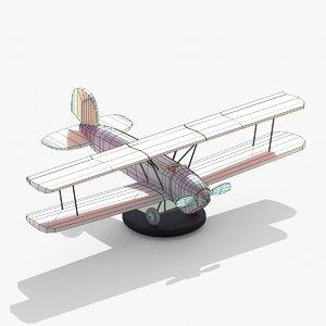 old biplane 3D