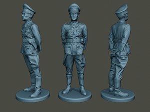 3D german officer ww2 attention