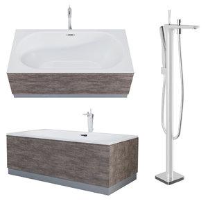 3D model acrylic bathtub aquanet ideal
